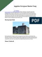 4 Daftar Peninggalan Kerajaan Banten Yang Masih Utuh