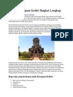 Sejarah Kerajaan Kediri Singkat Lengkap