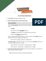 Wc Screenwriting