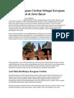Sejarah Kerajaan Cirebon Sebagai Kerajaan Islam Terkenal Di Jawa Barat