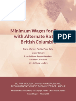Minimum Wages for Those with Alternate Rates in British Columbia