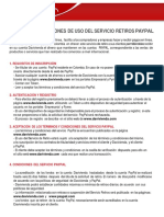 Terminos y Condiciones Paypal