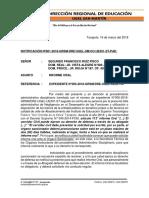 Carta Informe Oral