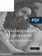 HEADLAM WELLS ¢ Shakespeare's Humanism.pdf