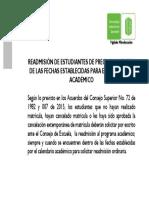 READMISIÓN DE ESTUDIANTES DE PREGRADO DENTRO DE LAS FECHAS ESTABLECIDAS PARA EL CALENDARIO ACADÉMICO.pdf
