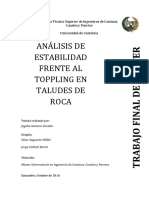 Analisis de Estabilidad en Toppling