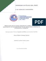 Reducción de los Costos Operativos en Mina, mediante la optimización de los Estándares de las operaciones unitarias de Perforación y Voladura.pdf
