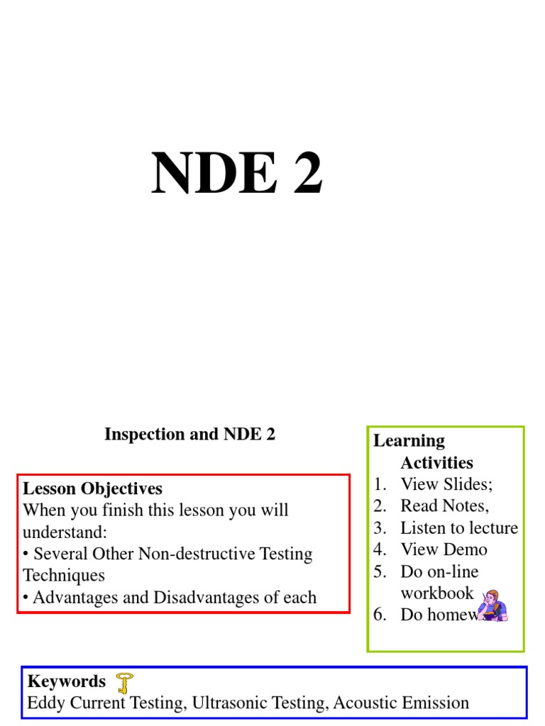 9a Inspection & Nde 2 ppt | Nondestructive Testing | Welding