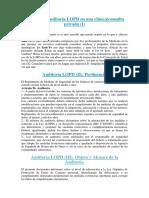 Ejemplo de Auditoría LOPD en Una Clínica