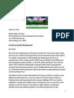 Letter to DEC, Boreas Ponds Management Issues, April 2018