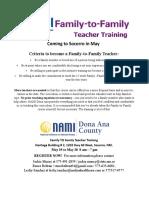 05192018 NAMI Family to Family Teacher Training