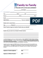 F2F Teacher Application