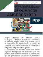 JUEGOS OLIMPICOS 1920-1928
