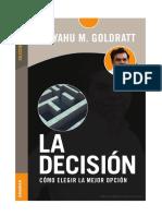 La Decision-eliyahu m. Goldratt