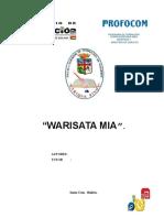 Monografia Warisata Mia