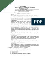 Esquema Del Informe de Pasantias.