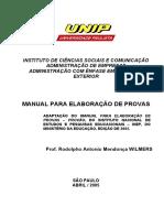 Manual Para Elaborao de Provas - Prof Rodholpo Wilmers