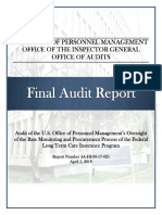 Audit of the FLTCIP - April 2018