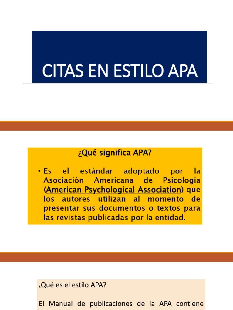 Citas Apa 5 Pptx Estilo Apa Ciencia General