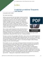ConJur - Protagonismo Judicial e a Máxima _Enquanto Houver Bambu, Vai Flecha