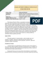 Colorado Attorney General's Office Policy