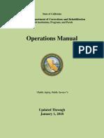 CDCR Dept Ops Manual (01-2018)
