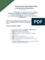 El Servicio Nacional de Aprendizaje SENA Centro de Servicios Financieros