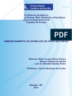 Trabalho de Pontes - Universidade Católica de Brasília.