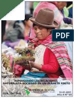 Repensando Las Relaciones Naturaleza-sociedad en Un Planeta Finito. Iberoamérica Social - Revista-red de Estudios Sociales Nº VII