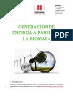 Generacion de Energia a Partir de La Biomasa