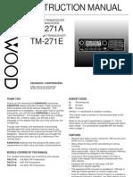 Kenwood TM-271A E Instructions Manual