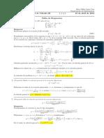 Corrección Primer Parcial de Cálculo III, lunes 16 de abril (tarde) de 2018