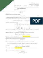 Corrección Primer Parcial de Cálculo III, 16 de junio de 2018