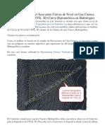 Cómo Determinar El Área Entre Curvas de Nivel en Una Cuenca Hidrográfica Con CIVIL 3D