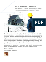 Ingeniero Civil o Arquitecto Diferencias