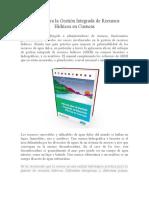 Manual Para La Gestión Integrada de Recursos Hídricos en Cuencas