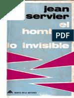 El Hombre y Lo Invisible - Jean Servier (D)