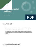 La contaminación ambiental - Eduardo Atri Cojab