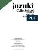 Cello- Suzuki - Cello School Volume 8