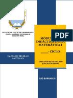 Modulo de Didactica de La Matemàtica i 2018