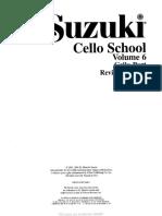 Cello- Suzuki - Cello School Volume 6