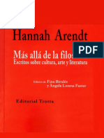Arendt Hannah - Mas Alla De La Filosofia.pdf