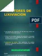 Reactores de Lixiviacion