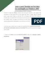 Ftp Win 2003 Server