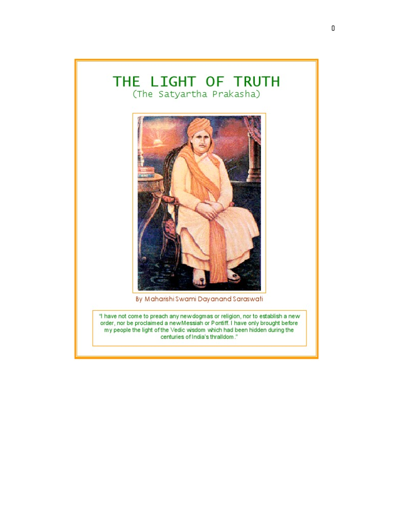 Satyarth Prakash Or Light Of Truth