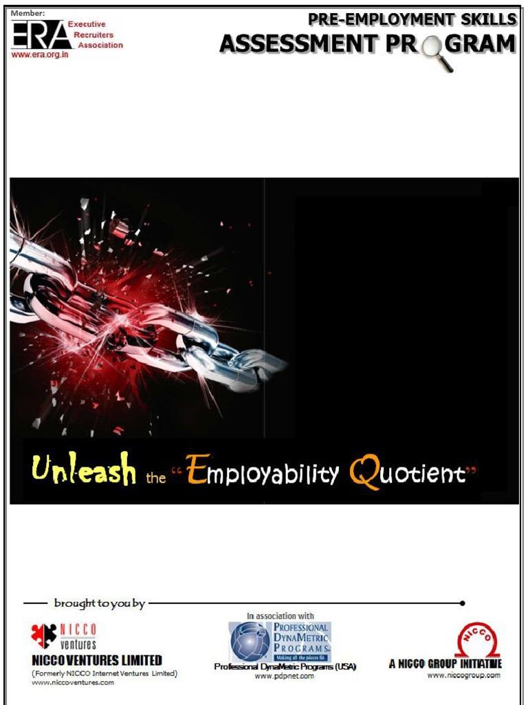 pre employment skill assessment program