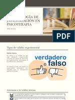 Metodología de Investigación en Psicoterapia