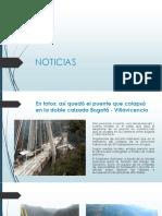 recopilacion de noticias del colapso del puente de Bogotá