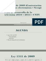 Ley 1341 y Plan de Desarrollo de La TV Final