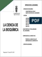 1.- La Ciencia de La Bioquímica